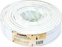Кабель коаксиальный RG-6U высокого качества CADENA белый (100м)