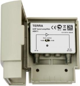 Усилитель мачтовый ДМВ 27дБ 108 дБмВ Terra AB011