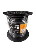 Кабель видеонаблюдения ККСВ-П 2х0,5мм, черный CADENA (100м)