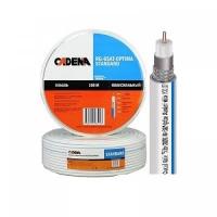 Кабель коаксиальный RG-6SAT-Optima standard CADENA белый (100м)