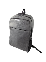 Рюкзак двухлямочный с USB шнуром и замком, серый, 822