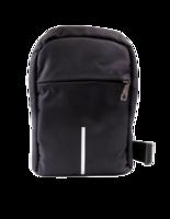 Рюкзак однолямочный с USB шнуром, черный и серый, СВ-540