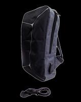 Рюкзак однолямочный с USB шнуром, серый и черный, СВ-123