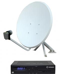 Комплект спутникового оборудования «Телекарта» с ресивером EVO-09