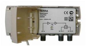 Усилитель домовой 1-69к. 20дБ 100дБмВ Terra AS039 2 выхода